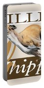 Willie The Whippet Portable Battery Charger by Liane Weyers