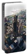 Willis Tower Chicago Aloft Portable Battery Charger by Steve Gadomski
