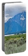 Willow Flats Overlook In Grand Teton National Park-wyoming   Portable Battery Charger