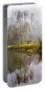 Willow Tree At The Pond Portable Battery Charger