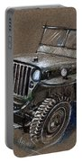 Willys Car Drawing Portable Battery Charger