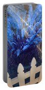 Wind In The Grass - Blue Portable Battery Charger