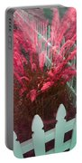 Wind In The Grass - Red Portable Battery Charger