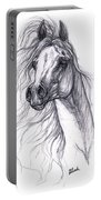 Wind In The Mane 2 Portable Battery Charger by Angel  Tarantella