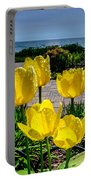 Wind Point Tulips Portable Battery Charger