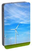 Wind Turbines Farm Portable Battery Charger
