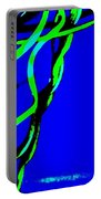 Winding Green And Blue Abstract Portable Battery Charger