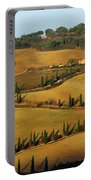Winding Road And Cypress Trees In Tuscany 1 Portable Battery Charger