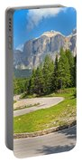 Winding Road To Pordoi Pass Portable Battery Charger