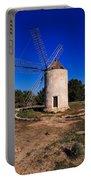 Windmill In El Pilar De La Mola On Formentera Portable Battery Charger
