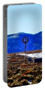 Windmill In The Snow Portable Battery Charger