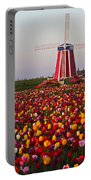 Windmill Of Flowers Portable Battery Charger