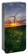 Windmill Sunset Portable Battery Charger