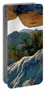 Window Arch City Of Rocks Idaho Portable Battery Charger