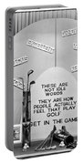 Window Display Of Golf Virtues Portable Battery Charger