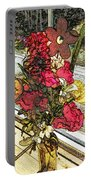 Window Flowers Portable Battery Charger