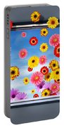 Window Of Flowers Portable Battery Charger