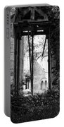 Window Of Haunted Abbey Portable Battery Charger