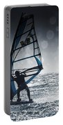 Windsurfing With Water Drops On Camera Portable Battery Charger