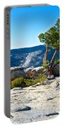 Windswept Tree On Top Of Sentinel Dome In Yosemite Np-ca Portable Battery Charger