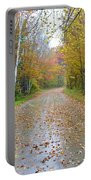 Windy And Rainy Fall Day Portable Battery Charger