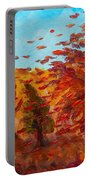 Windy Autumn Day Portable Battery Charger