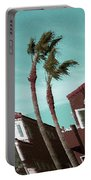 Windy Day By The Ocean  Portable Battery Charger by Ben and Raisa Gertsberg