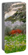 Windy Spring Day Portable Battery Charger