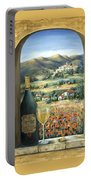 Wine And Poppies Portable Battery Charger