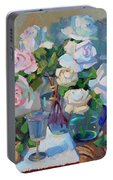 Wine And Roses Portable Battery Charger