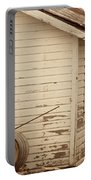Wine Barrels And Rustic White Barn Portable Battery Charger by Juli Scalzi