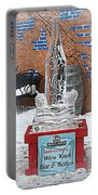 Wine Bottle Ice Sculpture Portable Battery Charger