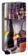 Wine Bottle With Glass In Window Portable Battery Charger