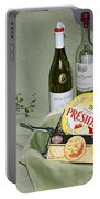 Wine Cheese And Crackers Portable Battery Charger