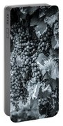 Wine Grapes Bw Portable Battery Charger