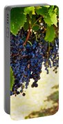 Wine Grapes Portable Battery Charger by Kristina Deane