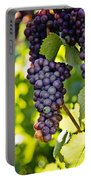 Wine Grapes Portable Battery Charger