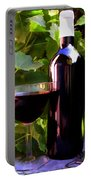Wine In The Sunset Portable Battery Charger by Elaine Plesser