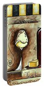 Wine Tasting Original Madart Painting Portable Battery Charger