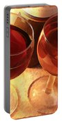 Wine Toast In Watercolor Portable Battery Charger by Elaine Plesser