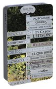 Winery Street Sign In The Sonoma California Wine Country 5d24601 Square Portable Battery Charger