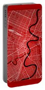 Winnipeg Street Map - Winnipeg Canada Road Map Art On Color Portable Battery Charger