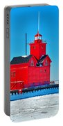 Winter At Big Red Portable Battery Charger