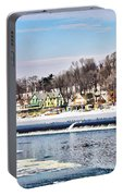 Winter At Boathouse Row In Philadelphia Portable Battery Charger