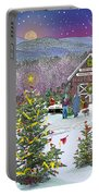 Winter At Campton Farm Portable Battery Charger
