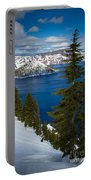 Winter At Crater Lake Portable Battery Charger