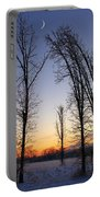 Winter At Dusk Portable Battery Charger