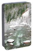 Winter At Mt Hood Portable Battery Charger