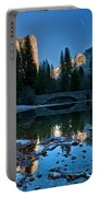Winter At Stoneman Bridge Portable Battery Charger