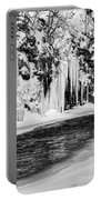 Winter At The Creek Monochrome Portable Battery Charger